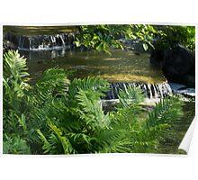 Listen to the Babbling Brook - Green Summer Zen Poster