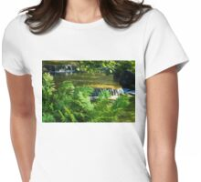 Listen to the Babbling Brook - Green Summer Fun Impressions Womens Fitted T-Shirt