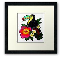 Tropical Toucan (Colour) Framed Print