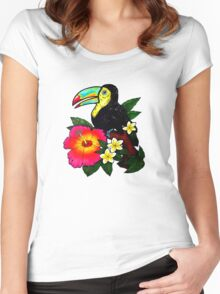 Tropical Toucan (Colour) Women's Fitted Scoop T-Shirt