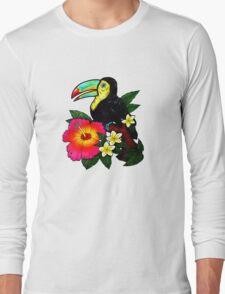 Tropical Toucan (Colour) Long Sleeve T-Shirt