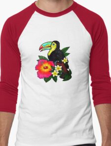 Tropical Toucan (Colour) Men's Baseball ¾ T-Shirt