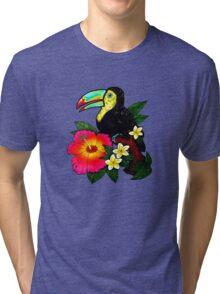 Tropical Toucan (Colour) Tri-blend T-Shirt