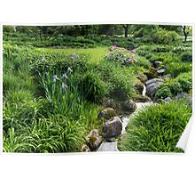 The Green Magic of Summer - Miniature Brook in the Garden Poster
