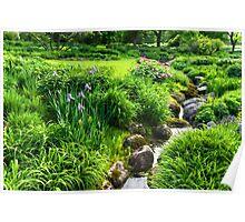 The Green Magic of Summer - a Luscious Garden Poster