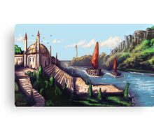 River Temple Canvas Print