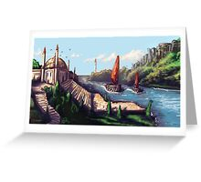 River Temple Greeting Card