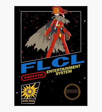 Retro Canti FLCL black box mock up  Photographic Print