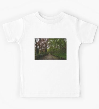 Spring Forest With Tulips Kids Tee