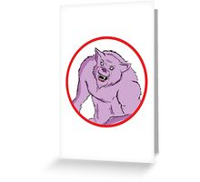 Comic Werewolf Greeting Card