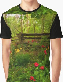 Dreamy Forest With Tulips - Impressions Of Spring Graphic T-Shirt