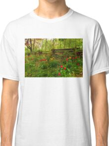 Dreamy Forest With Tulips - Impressions Of Spring Classic T-Shirt