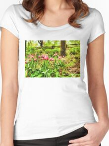Dreamy Tulip Garden - Impressions Of Spring Women's Fitted Scoop T-Shirt
