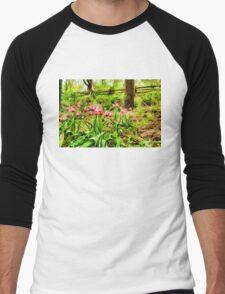 Dreamy Tulip Garden - Impressions Of Spring Men's Baseball ¾ T-Shirt