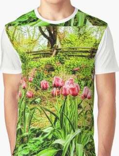 Dreamy Tulip Garden - Impressions Of Spring Graphic T-Shirt