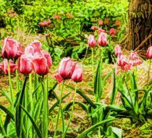 Dreamy Tulip Garden - Impressions Of Spring Sticker