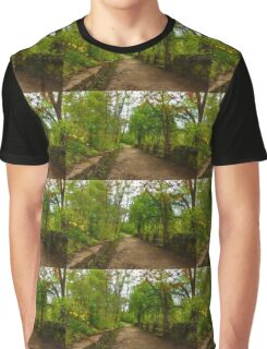 Dreamy Forest Road With Flowers - Impressions Of Spring Graphic T-Shirt