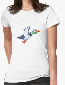 8-Bit Duck Womens Fitted T-Shirt