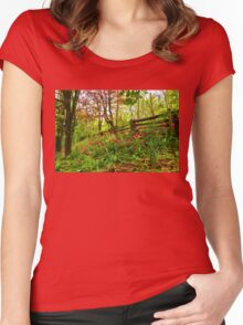 Fresh and Colorful Hillside - Impressions Of Spring Women's Fitted Scoop T-Shirt