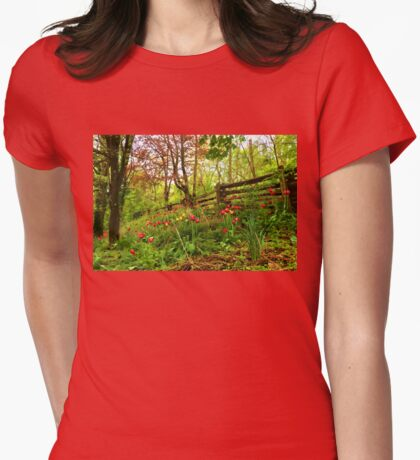Fresh and Colorful Hillside - Impressions Of Spring Womens Fitted T-Shirt