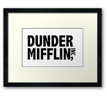 Dunder Mifflin Sticker Framed Print