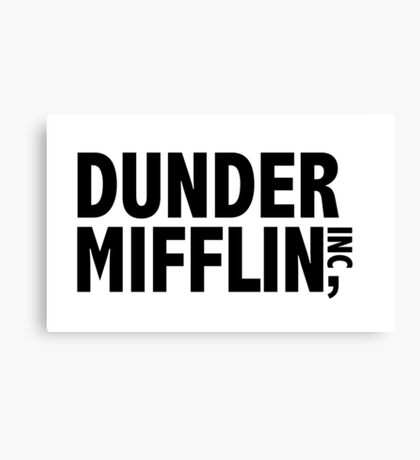 Dunder Mifflin Sticker Canvas Print