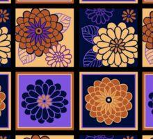 Dark Floral Tiles Sticker