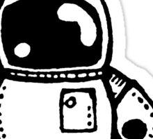 SPACE BAH the robot - white BG Sticker