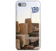 Greece - Athens - flag and reconstruction iPhone Case/Skin