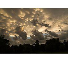 Furious Sky - Mammatus Clouds After a Storm Photographic Print