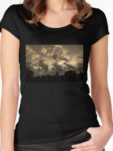 Furious Sky - Mammatus Clouds After a Storm Women's Fitted Scoop T-Shirt