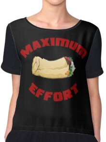 Maximum Effort Chiffon Top