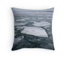 Icy Lake Ontario Throw Pillow