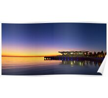 First light - Corio Bay Geelong Poster