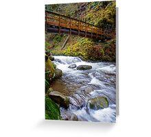 Oneonta Creek Bridge Greeting Card