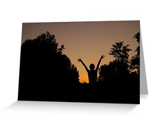 Raise Your Hands Greeting Card