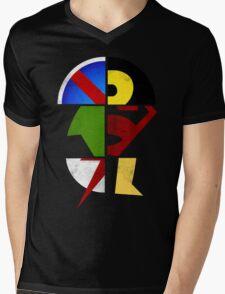 YJ Emblem Mens V-Neck T-Shirt