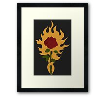 The Order of the Flaming Rose Framed Print