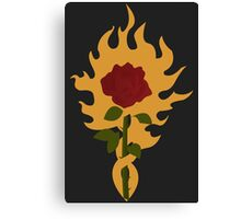 The Order of the Flaming Rose Canvas Print