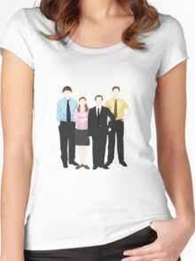 The Office Sticker Women's Fitted Scoop T-Shirt