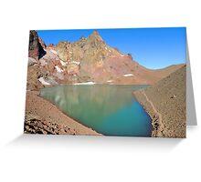 Broken Top Lake in Crater Greeting Card