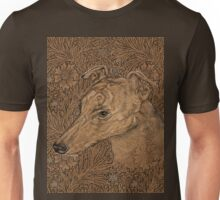 Yumi the greyhound on Morris marigolds T-Shirt