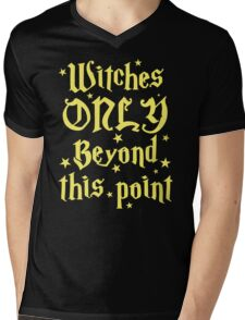 Witches only beyond this point Mens V-Neck T-Shirt