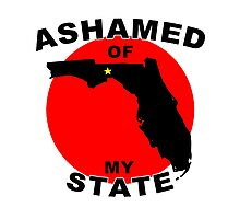 Ashamed Of My State- Florida Photographic Print