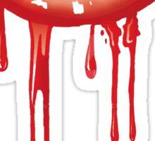 Red Dripping Lips Sticker