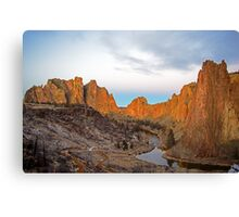 Smith Rock at Sunrise Canvas Print