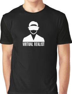 Virtual Realist - White Clean Graphic T-Shirt