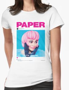 Kylie Jenner for Paper Magazine Womens Fitted T-Shirt