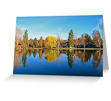Drake Park Reflections at Sunrise Greeting Card