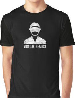 Virtual Realist - White Dirty Graphic T-Shirt